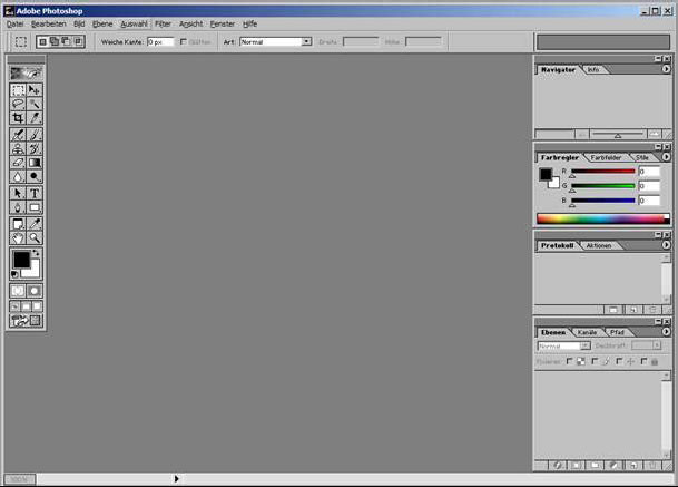 1.1 Der Photoshop Arbeitsraum