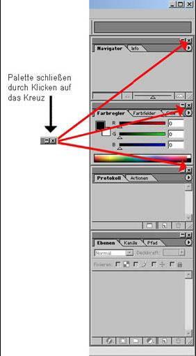 1.3 Der Photoshop Arbeitsraum