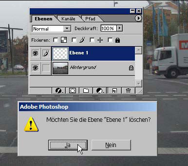 Ebenen in Adobe Photoshop 11.10