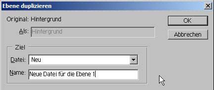 Adobe Photoshop Ebene duplizieren 11.31