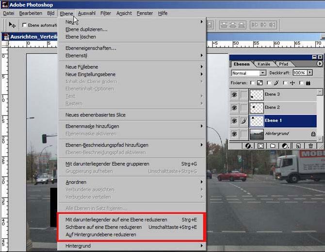 Adobe Photoshop Ebene duplizieren 11.47