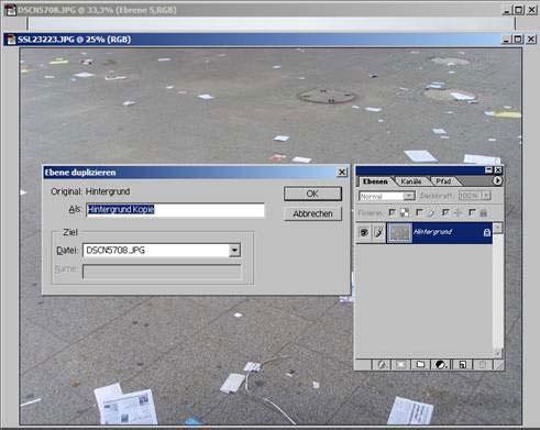 Adobe Photoshop Ebene duplizieren 11.64
