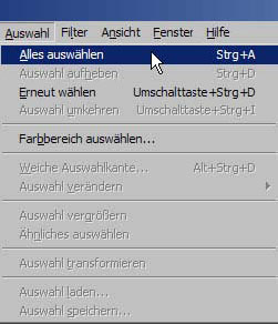 Bilder kopieren in Adobe Photoshop 11.87