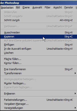Bilder kopieren in Adobe Photoshop 11.90