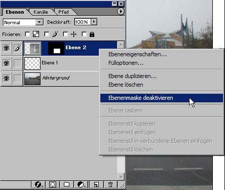 Arbeiten in einem Auswahlbereich von Adobe Photoshop 12.11