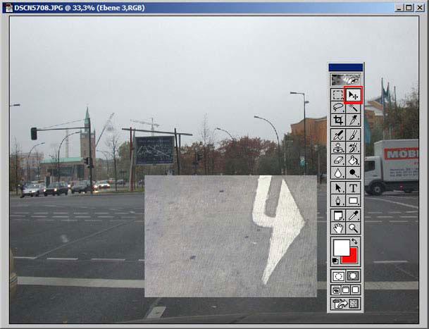 Arbeiten in einem Auswahlbereich von Adobe Photoshop 12.9