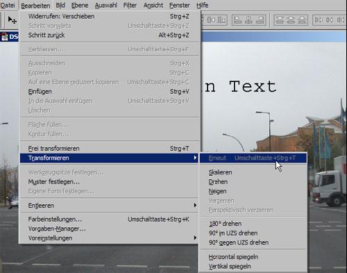 Schrift ins Foto mit Adobe Photoshop einfuegen 14.8