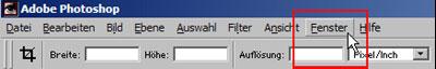 Bildgroesse aendern zuschneiden freistellen mit Adobe Photoshop 16.3