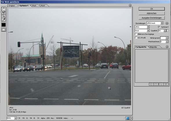 Bilder fuer das Web Internet speichern mit Adobe Photoshop 19.1