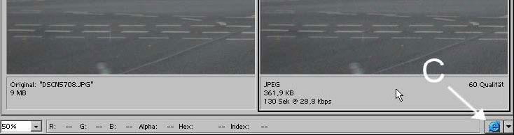 Bilder fuer das Web Internet speichern mit Adobe Photoshop 19.10