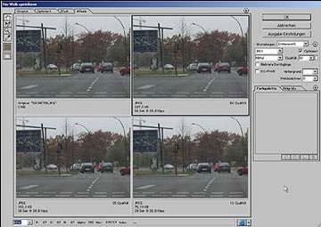 Bilder fuer das Web Internet speichern mit Adobe Photoshop 19.7