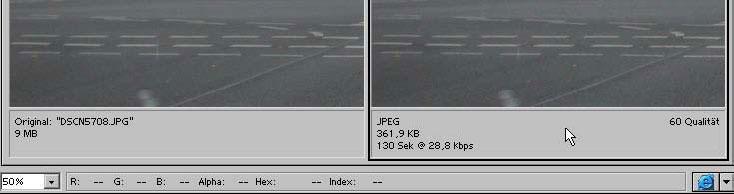 Bilder fuer das Web Internet speichern mit Adobe Photoshop 19.8
