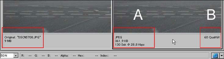 Bilder fuer das Web Internet speichern mit Adobe Photoshop 19.9