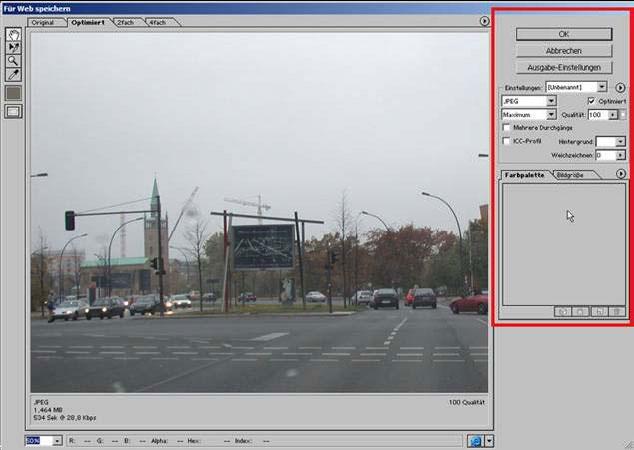 Dateigroesse digitaler Fotos aendern mit Adobe Photoshop 20.0