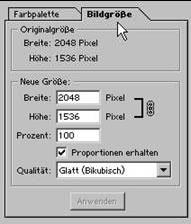 Dateigroesse digitaler Fotos aendern mit Adobe Photoshop 20.7